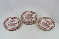 """Set of 15 Churchill China Bread & Butter Plates 6 3/4"""" Pink Artwork Cottage"""