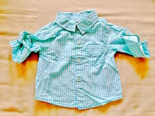 ♥ NEW Baby Cotton On Green Checkers Collared Shirt (0-3 months) ♥