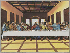 Black Last Supper Art Poster Print by Tobey , 8x6