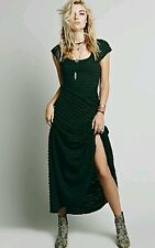 NEW Free People Victorian Vintage Inspired Maxi Dress Size Small Black GORGEOUS