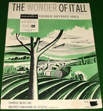 THE WONDER OF IT ALL, 1956 Sheet Music, George Beverly Shea, No Tape