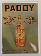 Paddy's Whiskey miniature metal sign / postcard   (hi)