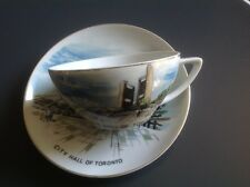 Toronto New City Hall Vintage Souvenir Tea Cup and Saucer 1965 marked JAPAN