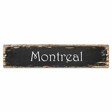 SP0167 Montreal Street Sign Bar Store Shop Pub Cafe Home Room Chic Decor