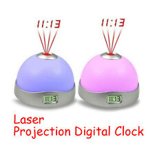 NEW Modern Laser Projection 7 Colors Changing LED Funny Alarm Clock Magic Starry