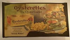 Trolley Poster Litho Advertising Repro 11 x 21 Oyster Cracker Uneeda Biscuit