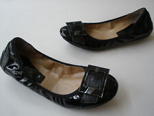 MARK FISHER SYNTHETIC BLACK PATENT LEATHER BALLET FLATS SIZE US 7 RARE HOT