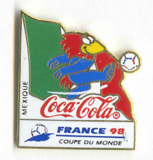 1998 WORLD CUP COCA COLA MEXICO FLAG PIN CARRIED BY MASCOT FOOTIX NEW IN BAGS