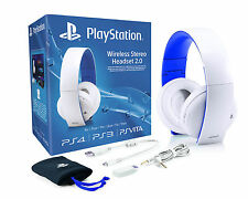 Oficial De Sony Playstation Ps4 Ps3 Ps Vita Pc Mac Wireless Para Auriculares Estéreo Blanco