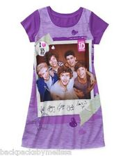 ONE DIRECTION 1D Purple Nightgown PAJAMAS Girl's 10/12 NeW Pjs Harry Louis Liam
