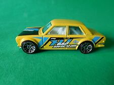 HOT WHEELS DATSUN BLUEBIRD 510 - RARE BRIGHT YELLOW SALOON - NICE