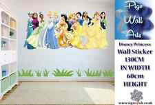 Disney Princess Wall Art Sticker Children's bedroom 130cm by 60cm Extra large.