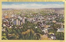 Aerial View, Business Section of Hollywood, CA, Linen  PC