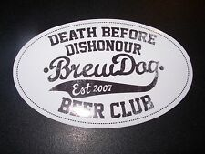 BREWDOG BREW DOG Club Hardcore Punk LOGO STICKER DECAL craft beer brewery