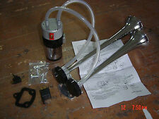 ALTERNATING SOUND Marine Chrome  Air Horn Kit & Compressor 12v Kit