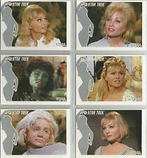 "Star Trek TOS 40th Anniversary S1 - ""The Faces of Vina"" 6 Card Chase Set #FV1-6"