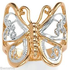 WOMENS 18K GOLD PLATED BUTTERFLY RING SIZE 5,6,7,8,9,10