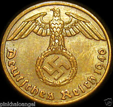 Germany   German 1940A Reichspfennig Coin   German Third Reich World War 2 Coin