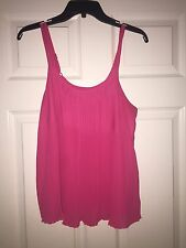 FOREVER 21 HOT PINK CAMISOLE TOP FLOWY M