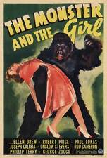 THE MONSTER AND THE GIRL Movie POSTER 27x40 Ellen Drew Robert Paige Paul Lukas