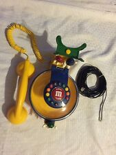 M&M Talking Candy Dish Corded Telephone Phone Vintage Collectable OUT OF BOX