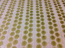 Lee Jofa / Baker- Cut Velvet Dot Upholstery Fabric Cherubino Stripe/Leaf 1.45 yd