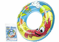 24'' Beach Swimming Pool Aid Inflatable Swim Ring Tyre Tube Toys Floater Ring