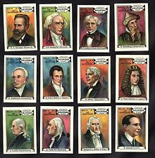 Inventors 12 Stamp Card Set 1930 Meurisse Marconi Gutenburg Edison Faraday Fulto