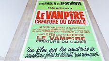 LE VAMPIRE CREATURE DU DIABLE ! affiche cinema texte