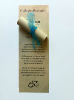 50 Personalised Wedding Favour Scrolls on parchmarque paper with organza ribbons