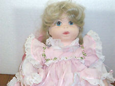 "Pittsburg Originals Musical  Soft Fabric Blonde Doll 18"" Chris Miller"