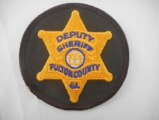 "Fulton County GA Sheriff's Department Police Patch - Apx 3"" Diameter"