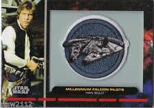 STAR WARS GALACTIC FILES PR-25 EMBROIDERED PATCH MILLENIUM FALCON HAN SOLO