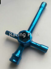 RC Nitro Car Tool Wheel Nut Glow Plug Cross Spanner Socket Wrench 7 8 10 17mm BU