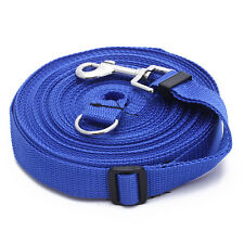 50ft/15m Long Pets Dog CAT Puppy Training Obedience Lead Leash Blue