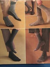 Knitting Patterns Socks For Men Various Designs 3 And 4 Ply Vintage