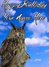 Owl A5 Personalised Greeting Card Birthday ref311 Dad Mum Friend