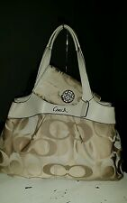 Coach F18826 Optic Lexi Handbag Purse Satchel Tote Ivory