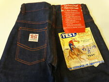 Vtg 50s TEST Buster Cowboy Indigo Denim Lined Pant Jeans Kids 6 23x20 SANFORIZED