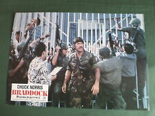 LOBBY CARD- 8.25 X 11.75 - CHUCK NORRIS - BRADDOCK MISSING IN ACTION III