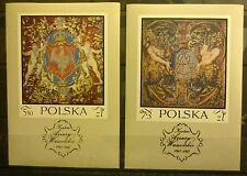 POLAND-STAMPS MNH Fibl38+39 SC1779+B121 Mi2048-49 - Tapestries - 1970 - clean