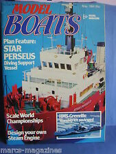 MODEL BOATS MAY 1984 STAR PERSEUS HMS WARRIOR GRENVILLE PERIOD SHIPS DESTROYER