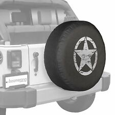 """32"""" Oscar Mike Star - Spare Tire Cover - Jeep Wrangler Freedom Edition - Silver"""