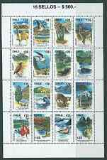 CHILE 1990 Wildlife full sheet MNH flowers cactus nature animals volcan birds