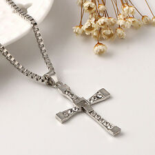 CHEAP Unisex Men's Stainless Steel Cross Pendant Necklace Chain Silver Best Gift