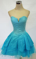NWT MASQUERADE $120 Turquoise Dance Prom Party Dress 1