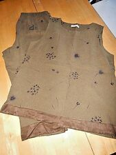Potato Clothing 3 piece Pants Suit Women 1XL Sage Green Plus Rayon Unique