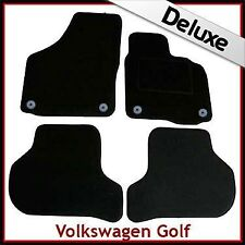 VW Golf Mk5 2003-2008 Round Eyelets Tailored LUXURY 1300g Carpet Car Mats BLACK