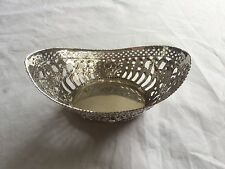 ANTIQUE GERMAN 800 SILVER JUGENDSTIL / ART NOUVEAU DECORATIVE BASKET