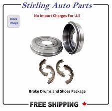 PAIR OF 2 BRAKE DRUMS & 4 BRAKE SHOES SET (REAR) - Fits Ford Taurus 01-07 80099